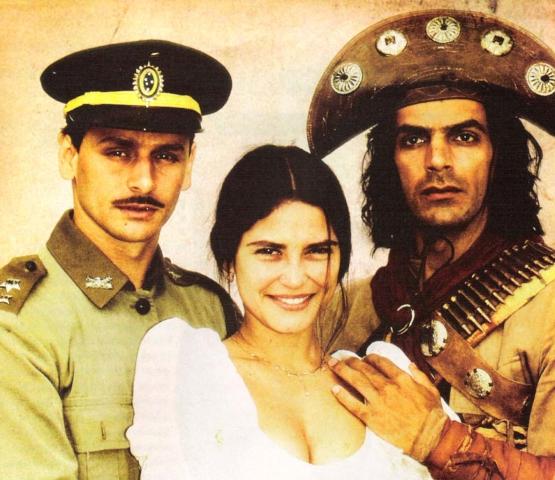 Murilo Rosa, Carla Regina e Victor Wagner foram os protagonistas da trama produzida e exibida originalmente pela Rede Manchete e reprisada pela Band / Arquivo GB Imagem