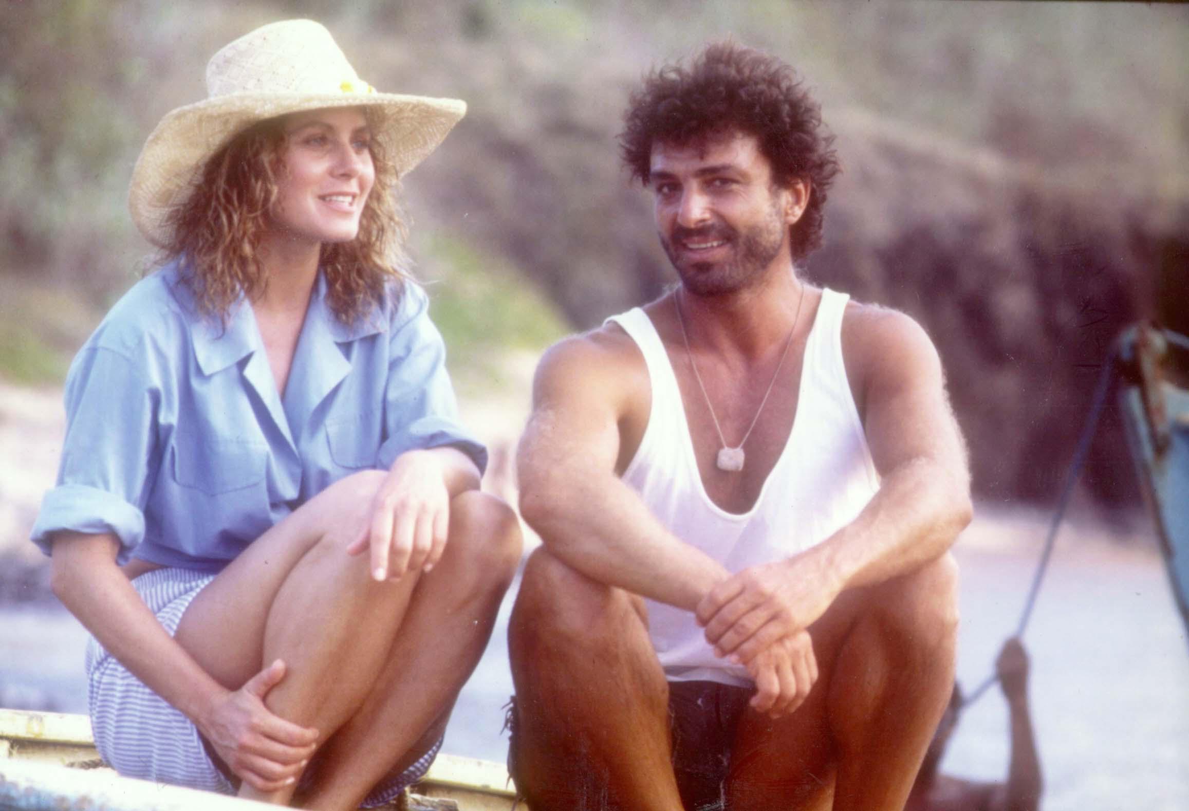 Eduarda (Vera Fischer) e Nô (Carlos Alberto Riccelli), personagens centrais de