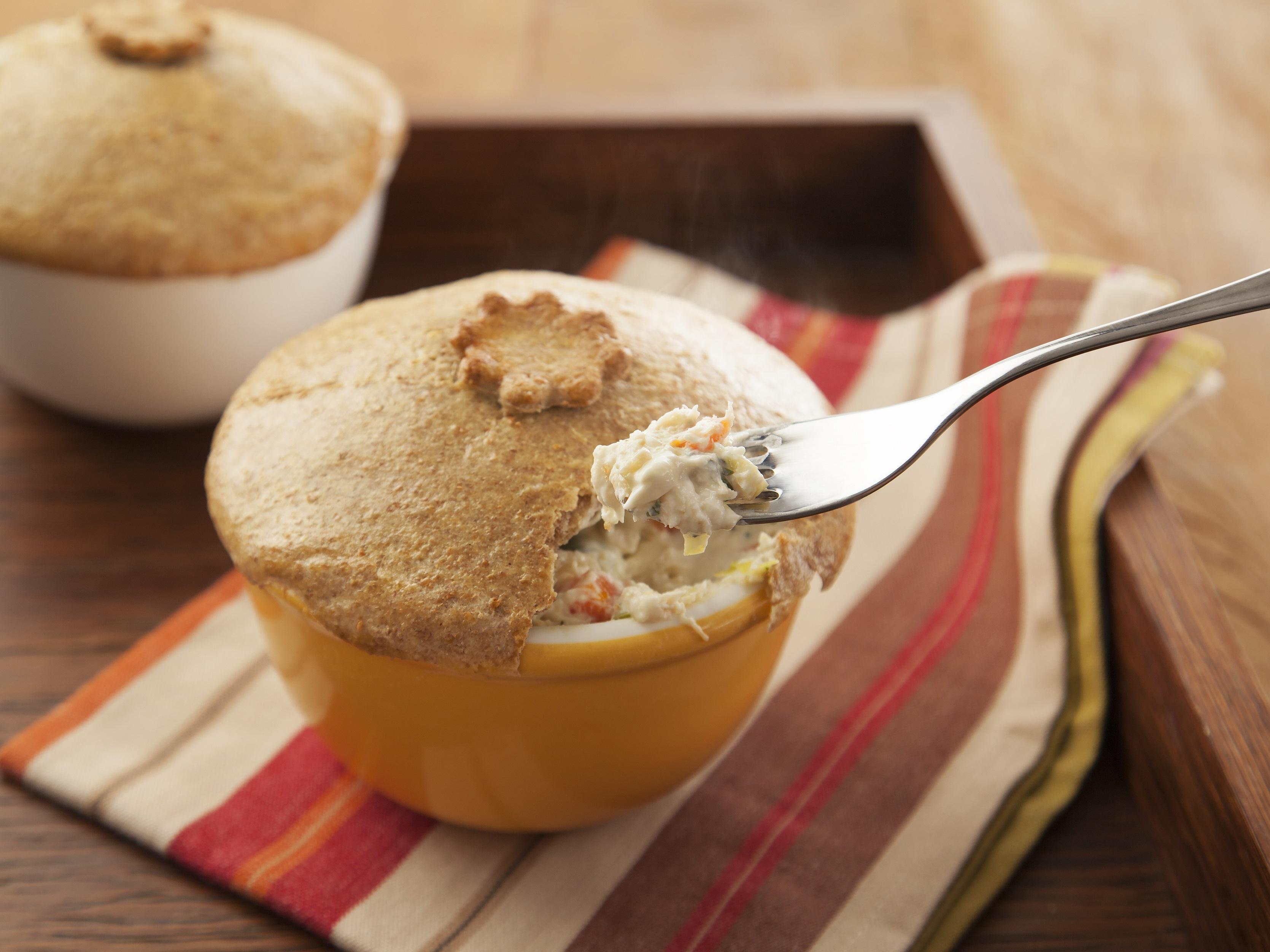Torta de Pote Integral é ideal para o lanche, mas também pode ser servida na refeição principal, até mesmo como prato único. Experimente servir acompanhada de salada de folhas / GB Imagem