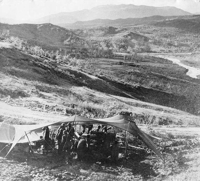 Posição da artilharia da FEB nas proximidades de Monte Castelo em 1945 / Arquivo GB Imagem