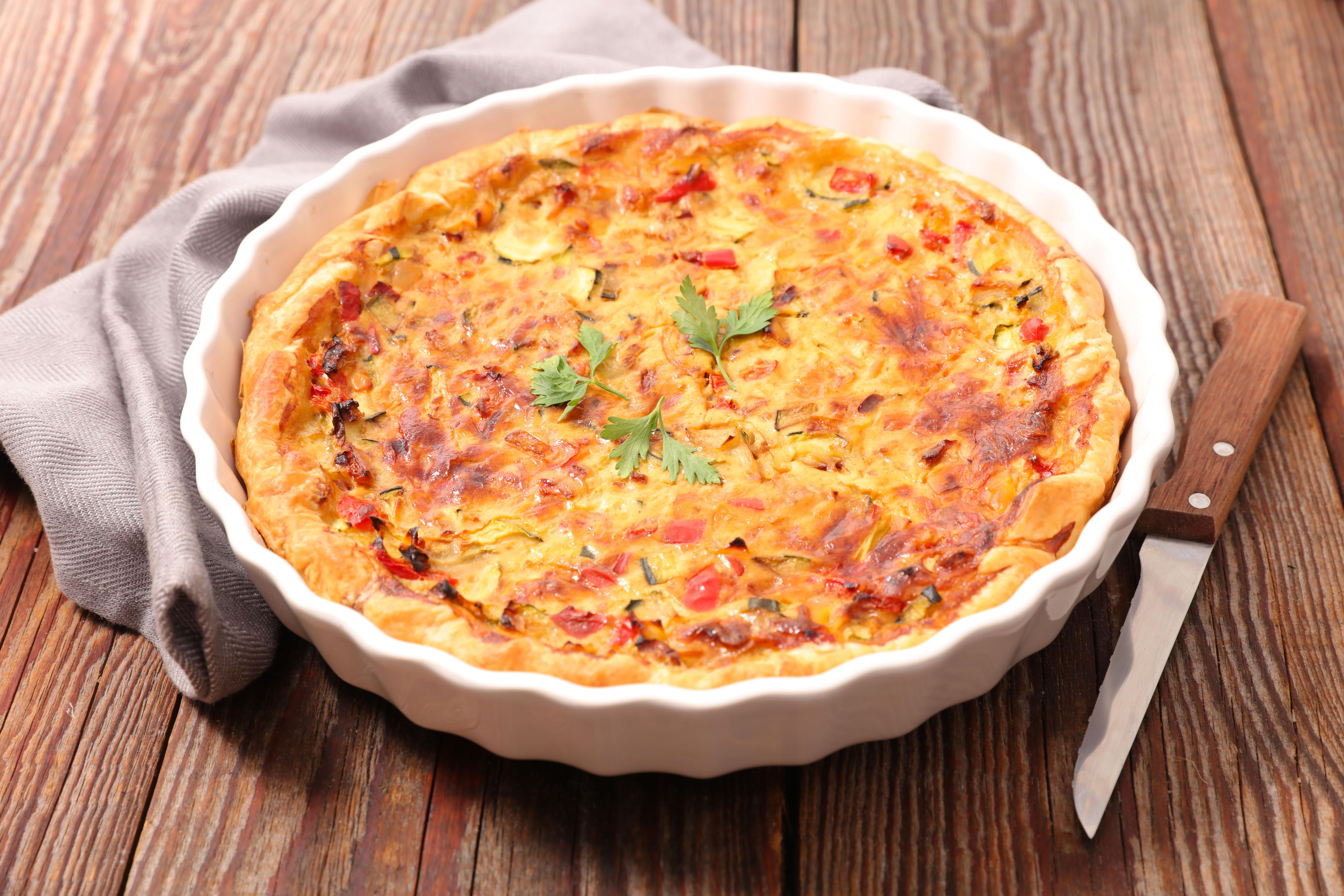 O Quiche Delícia é coringa! Pode ser servido no lanche ou na refeição principal acompanhado de salada verde / GB Imagem